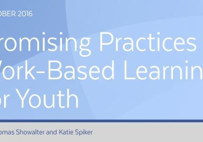 Promising Practices in Work-Based Learning for Youth